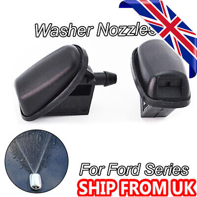 Twin Front Windscreen Washer Nozzle Jet Pair Jets For Ford Fusion Galaxy Focus  • 5.69£