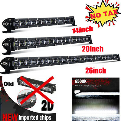 14 20 26Inch LED Work Light Bar Spot Flood Combo Beam Offroad 4x4 Jeep SUV Wire • 35.99£