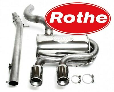 Rothe - Motorsport - Stainless Turbo - Exhaust System From Cat 2.99in,VW Golf 6 • 715.75£
