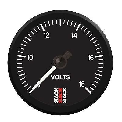 Stack Pro Stepper Motor Voltmeter 8-18 Volts Black Face 52mm Diameter 3316 • 96.41£