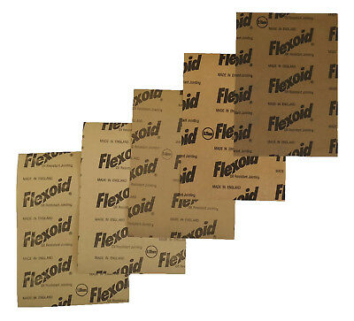 Gasket Paper Material - Oil & Water Resistant, Flexoid Brand - 5 X A4 Sheets • 3.80£