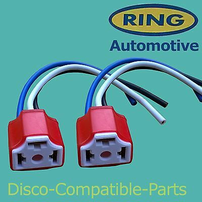 Land Rover Defender 2 X H4 Ceramic Headlight Connector Block By Ring • 4.95£