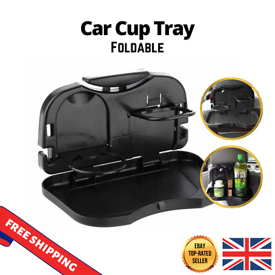 Folding Car Back Seat Table For Drink Food Cup Tray Rack Holder Stand Desk  • 7.79£