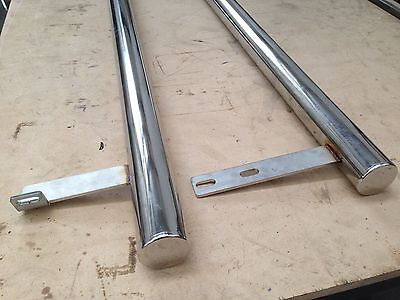 SWB VW T4 Polished 63mm Stainless Side Bars, Top Quality, Easy Fit • 185£