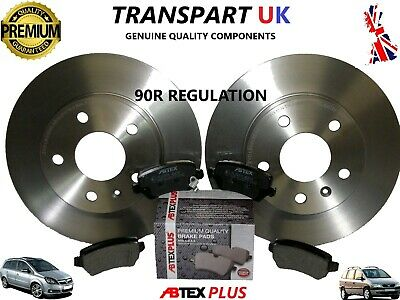 *vauxhall Zafira A And B Rear Brake Discs And Pads 1.9 2.2 Diesel 1.6 1.8 Petrol • 35.99£