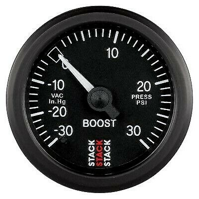 Stack Mechanical Turbo Boost Pressure Gauge -30 To +30 Psi Black Face 52mm 3112 • 72.06£