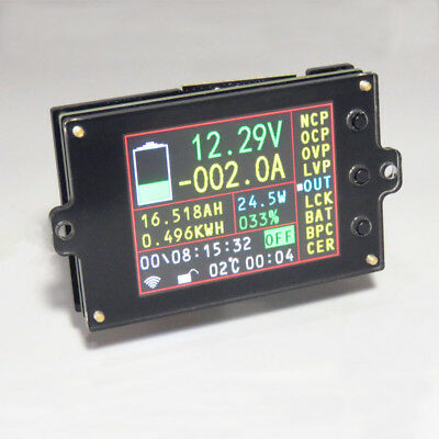Wireless Battery Monitor DC 120V 500A VOLT AMP AH SOC Remaining Capacity Tester • 40.50£