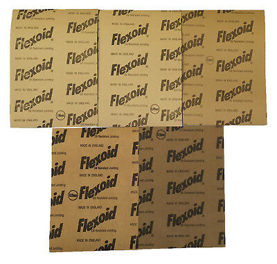 Gasket Paper Material - Oil & Water Resistant,flexoid  5 X 290mm X 180mm Sheets • 3.40£