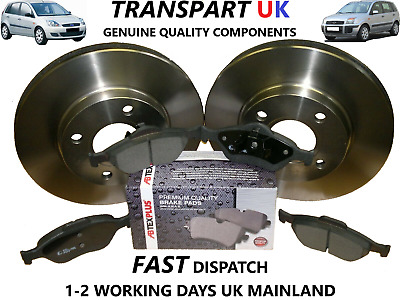 *ford Fiesta Mk6 & Fusion Front Brake Discs And Pads 02-09 Premium 1.25 1.4 1.6 • 39.99£