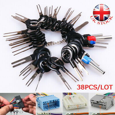 38x Wire Terminal Removal Tool Kit Car SUV Electrical Wiring Crimp Connector Pin • 6.63£