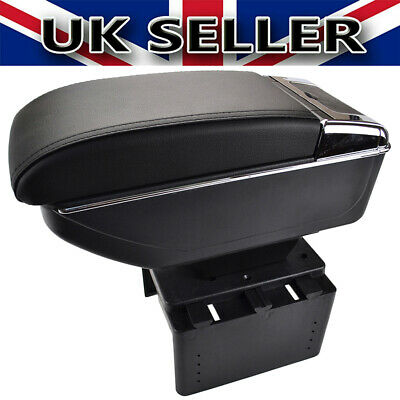 UKSTOCK Universal Sliding Soft Armrest Center Console Car Styling Content • 29.99£
