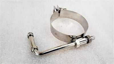 Stainless Round Exhaust 63.5MM 2.5  Pipe Tube Hanger STRAP BRACKET • 10.99£