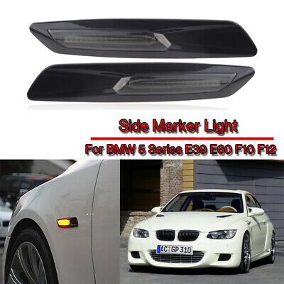 2PCS FOR BMW SERIES BMW 1 3 5 Series LED SIDE MARKER INDICATOR SMOKED LIGHT DRL • 29.89£