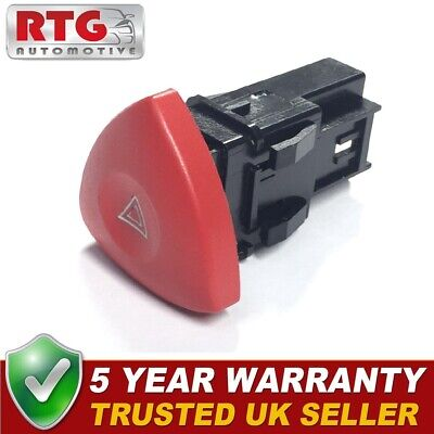Hazard Warning Switch Button Fits Renault Laguna Espace Trafic Vauxhall Vivaro • 5.95£