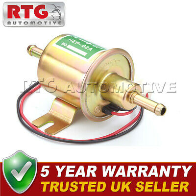 12v Electric Universal Petrol Diesel Fuel Pump Facet Cylinder Style Tractor Boat • 12.39£
