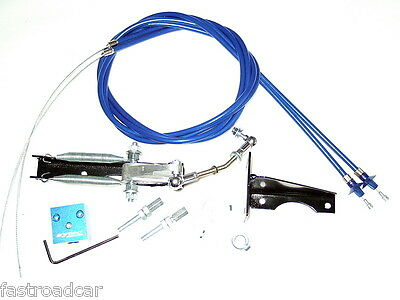 WEBER DCOE X2 TWIN CABLE SYTEC THROTTLE LINKAGE TLK2W WITH FREE LOTUS LEVER • 58.97£