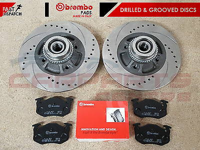 For Renault Clio Sport 172 182 2.0 Rear Brake Discs Brembo Pads + Abs Bearings • 97.95£