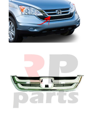 For Honda Cr-v 2010 - 2011 Front Center Grille With Chrome Trim Without Badge  • 59.89£