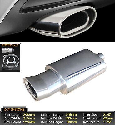 UNIVERSAL STAINLESS STEEL PERFORMANCE EXHAUST BACKBOX - LMS-004 – Ford 2 • 46.99£