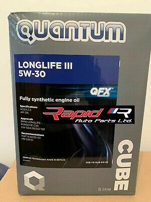 Quantum Longlife 3 5w30 Quantum 5w 30 Fully Synthetic Engine Oil 5 Litre Bottle • 26.99£