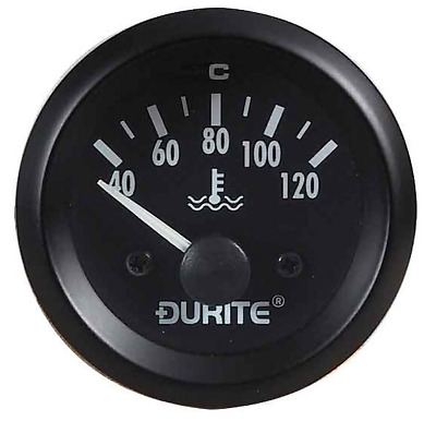Durite 0-523-23, Illuminated Water Temperature 52mm Gauge & 1/8  NPTF Sender • 39.69£