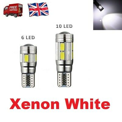 T10 501 W5w Car Side Light Bulbs Error Free Canbus 6 & 10smd Led Xenon Hid White • 4.29£