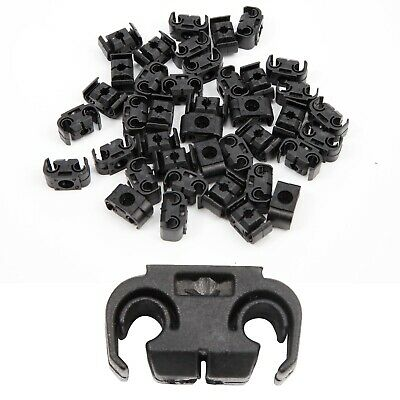 40 Brake Pipe Line Cable Holder Clip Maximum Diameter 5mm Fits 9mm Hole • 8.99£
