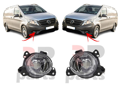 For Mb V-class / Vito 14-19, Ml 10-11 New Front Bumper Foglight Lamp Pair Set • 65.89£