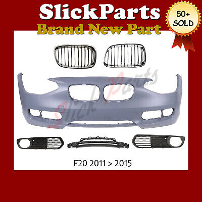 Bmw 1 Series Bumper Primed F20 / F21 With 5 Grilles 2011 2012 2013 2014 2015  • 220£