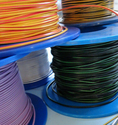 10m Car Automotive Electrical Cable Wiring 1.0mm² 70 COLOUR COMBINATIONS • 6.25£