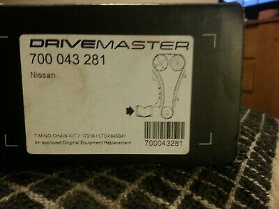 Drivemaster 700093281 LTCK840042 Timing Chain Kit Fits Nissan • 50£