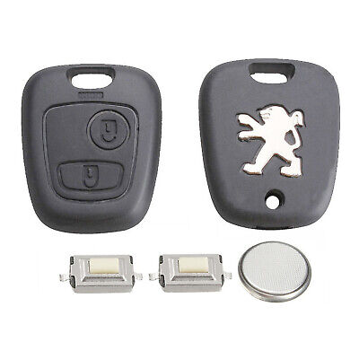 Peugeot DIY Repair Kit 2 Button Remote Car Key Fob Case With Blade 107 207 307 • 7.98£