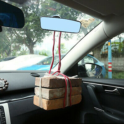 Car Auto Wide Flat Interior Rear View Mirror Suction Stick Rearview Accessories、 • 7.99£