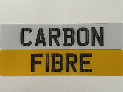 CARBON FIBRE Font Pair Of Show Custom Plates Printed On Number Plates • 15.95£