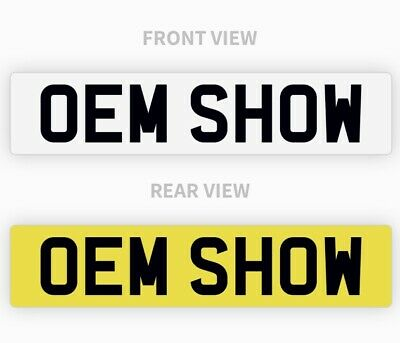 PAIR Of OEM Style Show Custom Plates Printed On Number Plates - NOT Road Legal • 17.45£