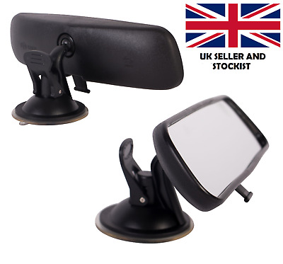 Dipping Interior Wide Angle Rear View Mirror Suction Learner Instructor 21x5cm • 8.95£