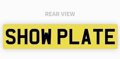 Single Rear Yellow Show Custom Plate Printed On A Number Plate NOT Road Legal • 9.99£
