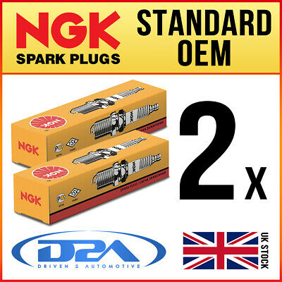 2x NGK BR9ECM 3252 Standard Spark Plugs *Wholesale Price SALE* • 11.12£