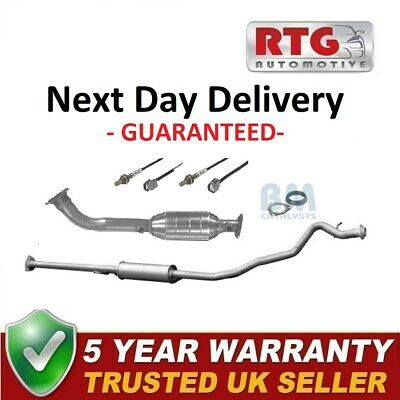 Catalytic Converter + Middle Exhaust + Oxygen Sensors + Gaskets For Honda CR-V • 209.99£
