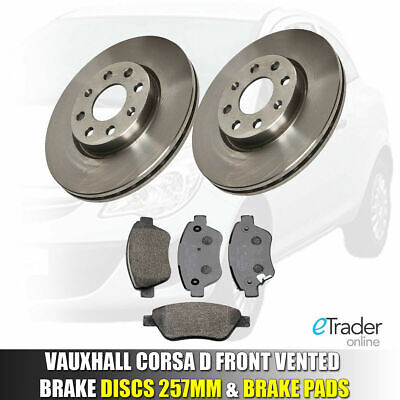 Vauxhall Corsa D Front Brake Discs And & Pads 1.2 1.4 2006-2014 Set New 2 Vented • 39.98£