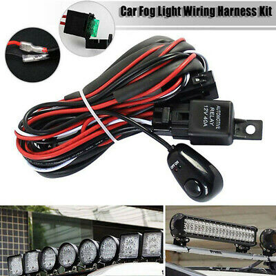 LED Work Light Bar Wiring Harness Remonte Control Switch Kit Offroad 12V OI • 7.69£