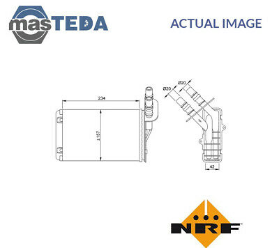 Nrf Heater Radiator Exchanger Lhd Only 53382 P New Oe Replacement • 29.99£
