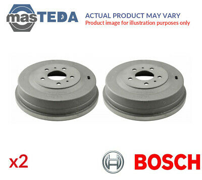 2x BOSCH REAR BRAKE DRUM PAIR SET 0 986 477 292 P NEW OE REPLACEMENT • 160.99£