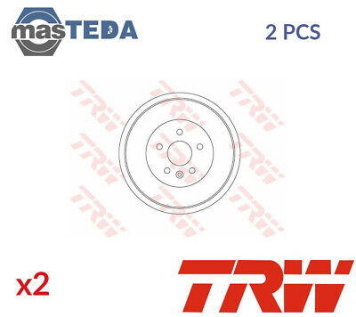2x TRW REAR BRAKE DRUM PAIR SET DB4445 P NEW OE REPLACEMENT • 173.99£