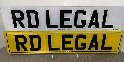 PERSONALISED Pair Show Custom Plates Printed On Number Plates NOT Road Legal • 14.99£