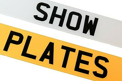 Pair Of Show Custom Plates Printed On Number Plates NOT Road Legal • 13.95£