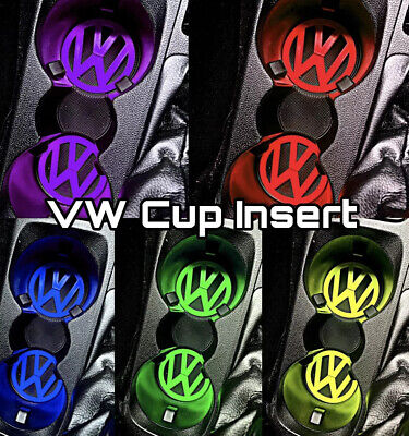 VW Volkswagen Golf Polo Caddy Scirocco Cup Holder Inserts Modification Mod X2 • 4.99£