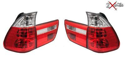 Rear Tail Lights Bmw X5 E53 1999-2006 Lexus Crystal Design Red And Clear Lamps • 109.99£