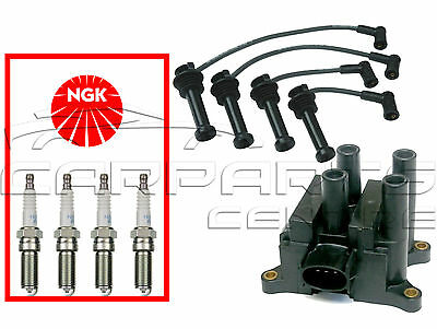 FOR Ford Focus MK1 1.4 1.6 00-04 Ignition Leads Coil Pack NGK Spark Plugs • 44.25£