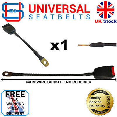 Universal 44 Cm Long Wire Rope Seat Belt Buckle End FREE NEXT DAY DELIVERY • 14.50£